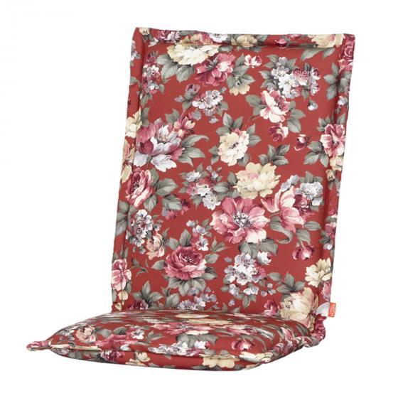 Gartenstuhl-Auflage Lissa, Blume-terrakotta