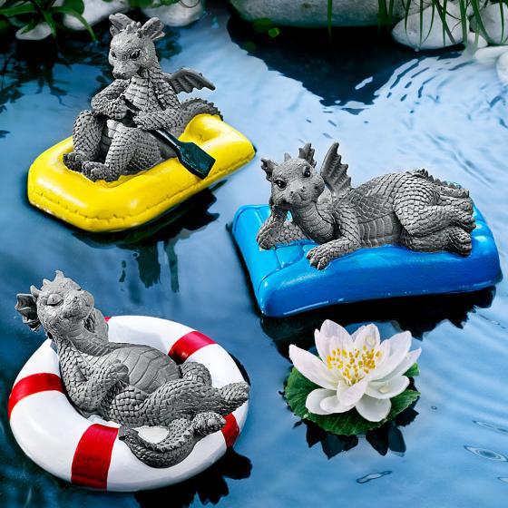 Teichschwimmer Set Drachen, 3-teilig