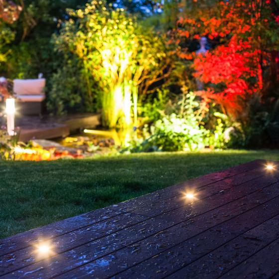 LED Spots Starter-Set, 3 Spots, Dämmerungssensor, Trafo