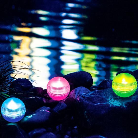 Solar-Lichtkugel, Farbwechsel, 3er-Set