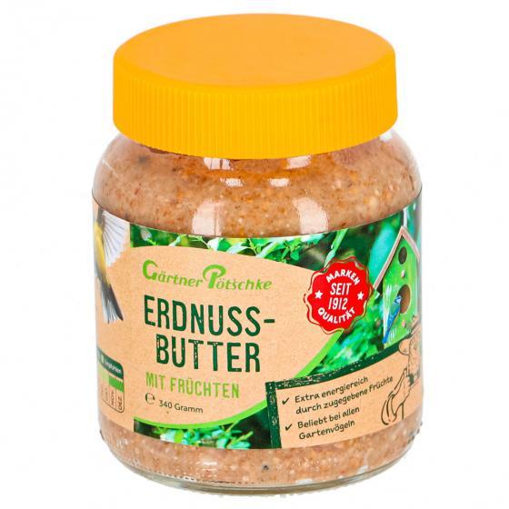 Erdnussbutter mit Früchten für Wildvögel, im Glas, 340 g