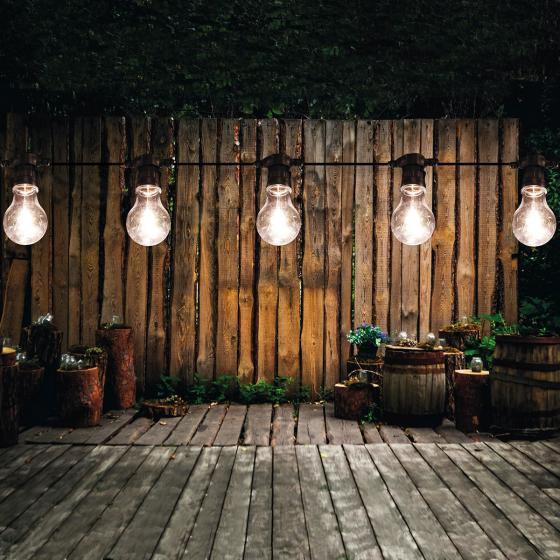 LED Lichterkette Birnen, 10 m, warm weiss