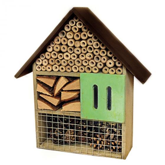 Insektenhotel Basic, 30x27x9cm, Bambus/Kiefernholz