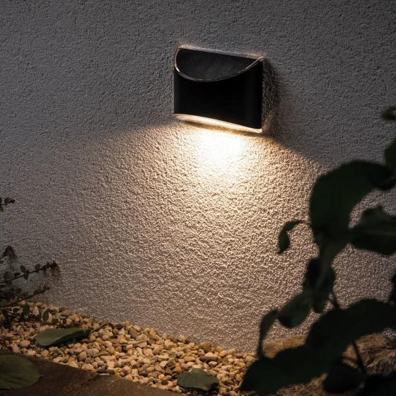 Outdoor Solar Wegeleuchte Elliot, 3000K 7lm IP44 Metall/Kunststoff, anthrazit