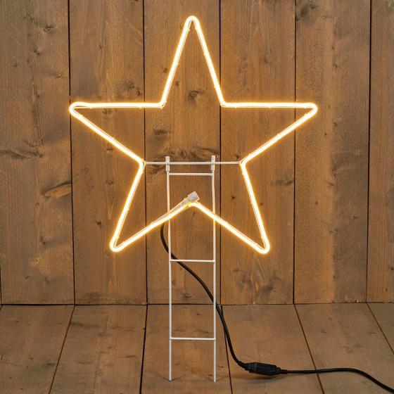 Premium-LED-Gartenstecker Stern, 55 cm