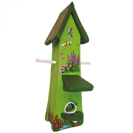 Vogelhaus Futtertürmchen inkl. Silo Gartenzauber, grün