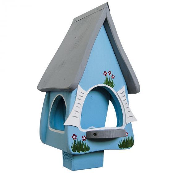 Vogelhaus mit Silo Gartenlust, blau