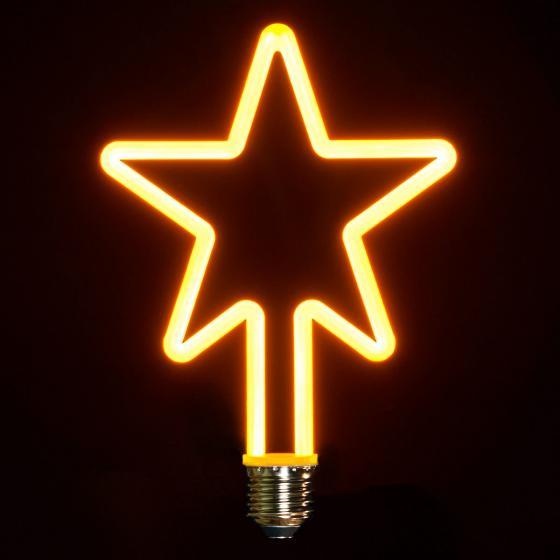Retro LED-Dekolampe, Stern, 19,5x13,5 cm, dimmbar
