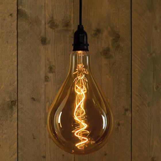 LED dekorative Retrobirne, 16x23 cm