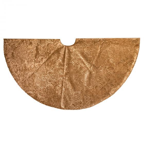 Baumkleid, Durchmessser 120 cm, Samt, gold