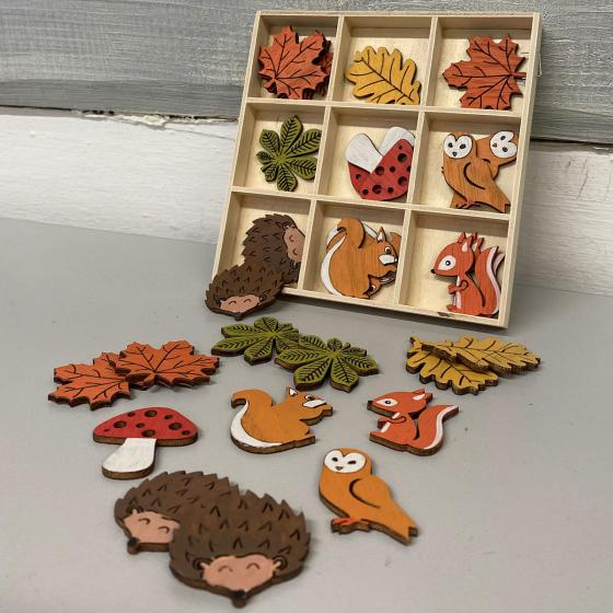 Streudeko - bunte Herbstmotive, 36 Stück