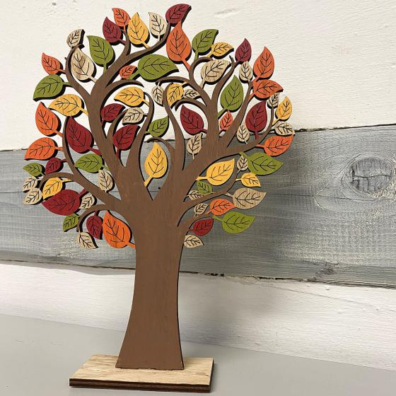 Herbstbaumgestell, Holz, bunt