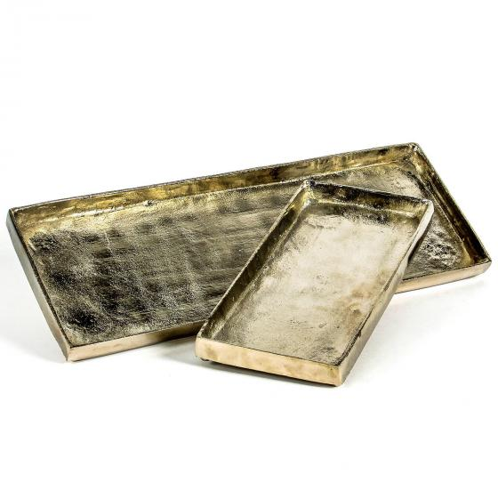 Stilvolles Tablett, 32x15x3 cm, gold