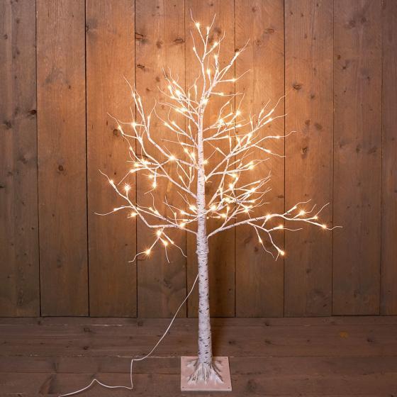 LED-Dekobaum Birke, 120 LEDs, 130 cm