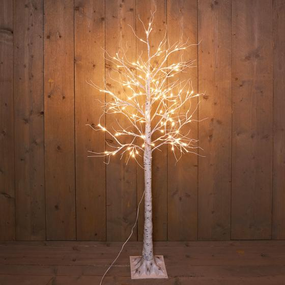 LED-Dekobaum Birke, 144 LEDs, 160 cm