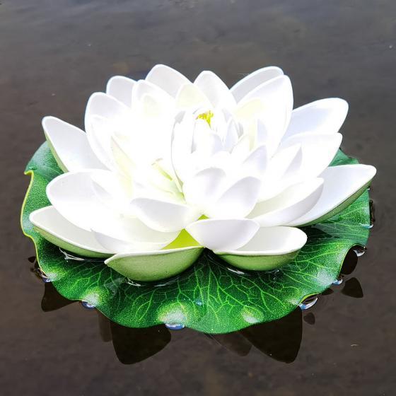 Deko-Seerose Lotus, weiss