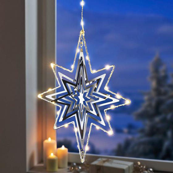 LED-Hängedeko Polarstern