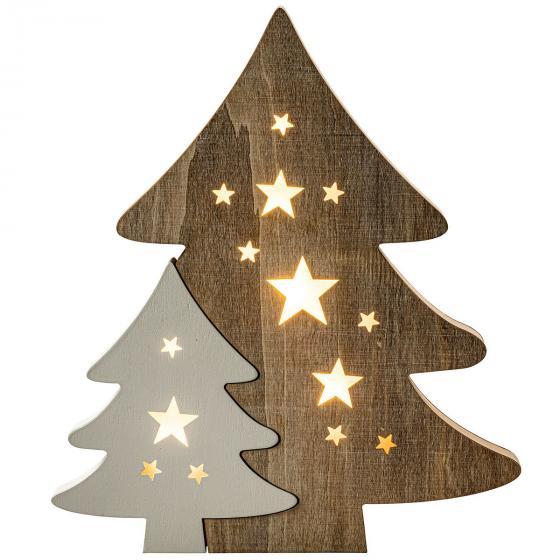 Deko-Weihnachtsbaum mit LED, 2-teilig