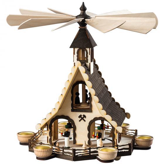 "Teelicht Pyramide ""Bergmänner"""