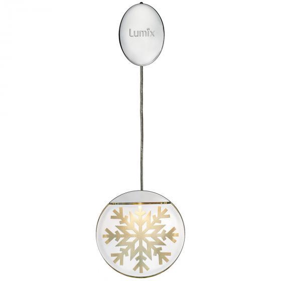 Deko-Lights Schneekristall, silber, Ø 10 cm