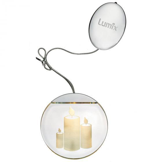 Deko-Lights Kerzen, silber, Ø 10 cm