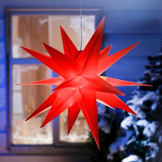 """LED-Außenstern """"Weihnachten"""" rot"""