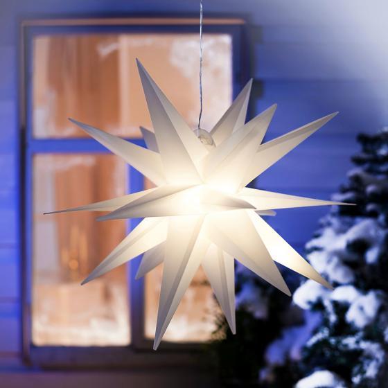 """LED-Außenstern """"Weihnachten"""" weiß"""