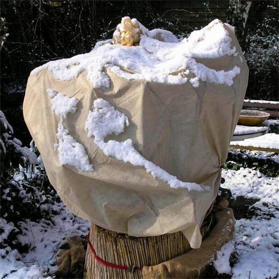 Wintervlies, beige, 1,5  x 5 m
