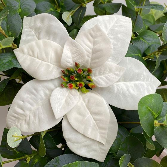 Kunstpflanze Poinsettia, weiß