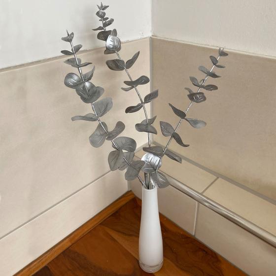 Kunstpflanze Eukalyptuszweig, silber
