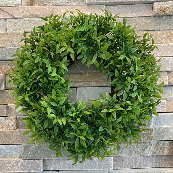 Kunstpflanze Grünkranz, 22 cm