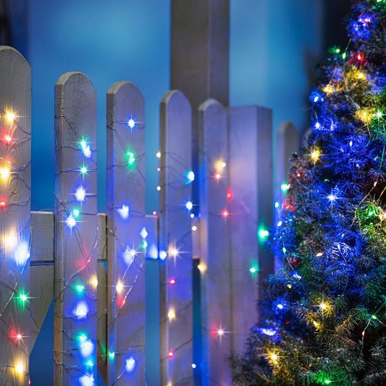 Sparset LED-Lichterkette Colori Garden 10m, 100 LEDs, 2er-Set
