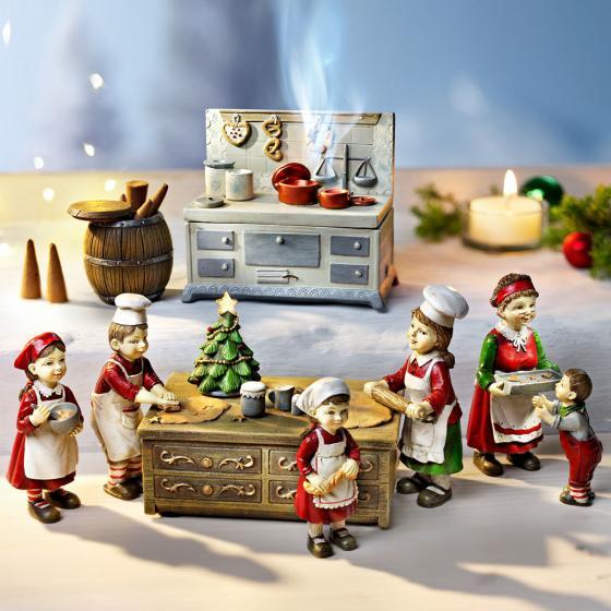 Weihnachtsbäckerei mit Spieluhr, 9-teilig