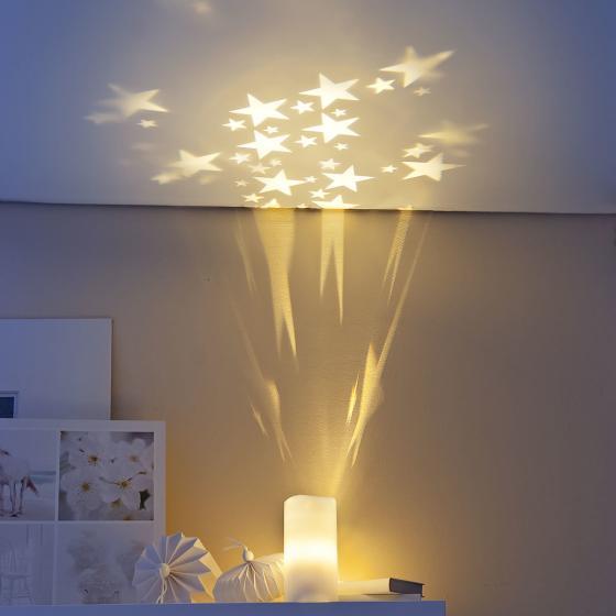 LED-Kerze Sternenlicht