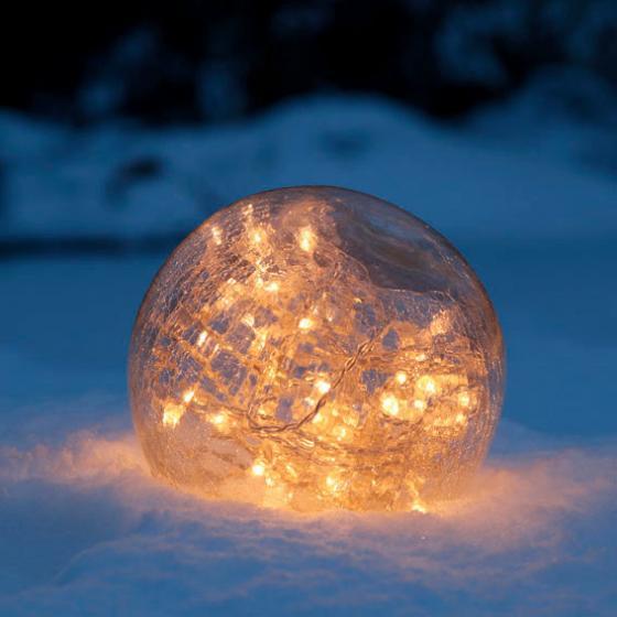Glaskugel Weihnachtsglanz, klar 15 cm