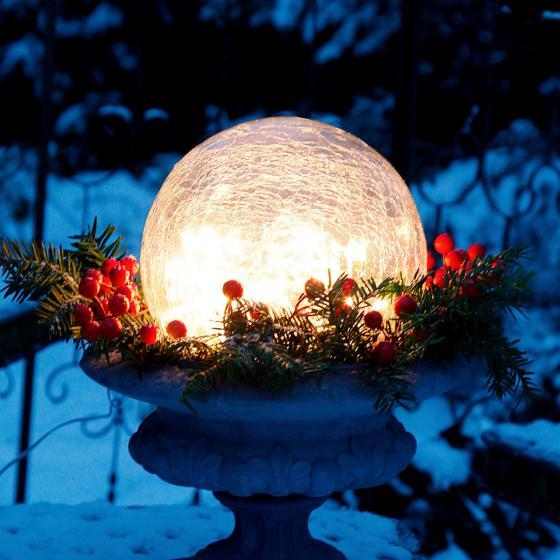 Glaskugel Weihnachtsglanz, klar 20 cm