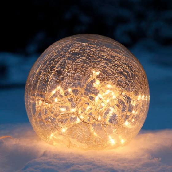 LED-Glaskugel, 25 cm, klar