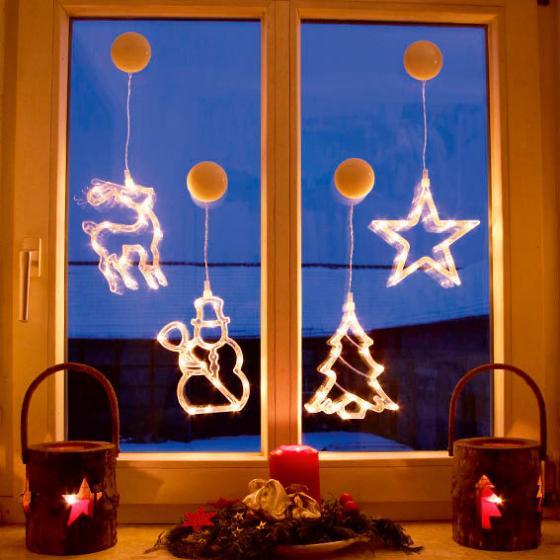 LED-Motive Fensterglanz, 4er-Set