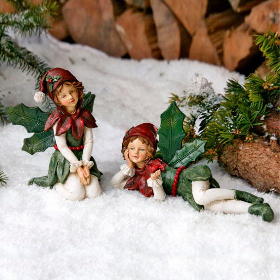 Weihnachtselfen, Lucida & Gloria, 2er-Set