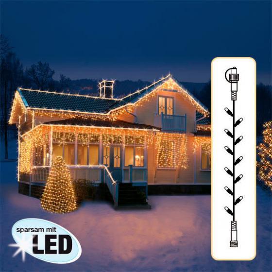 Star LED Lichtsystem Lichterkette, 500 cm, schwarz