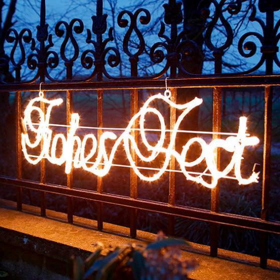 LED-Leucht-Schriftzug Frohes Fest