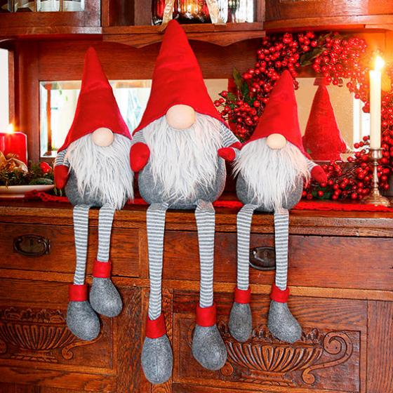 Weihnachts-Wichtel Lenny Langbein, 3er-Set