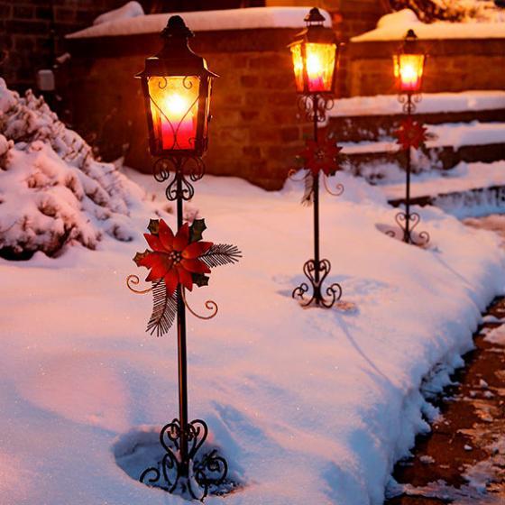 Weihnachts laterne nostalgie 3er set von g rtner p tschke - Weihnachts gartendeko ...