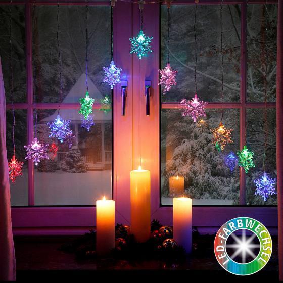 LED-Lichtervorhang Schneespaß