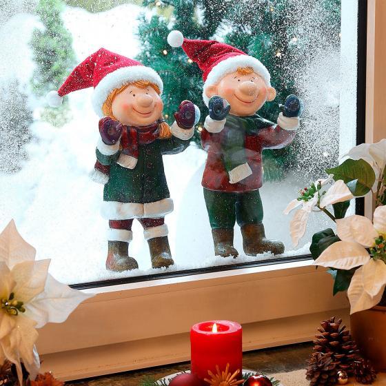 Weihnachts-Fenstergucker Niki & Felix, als 2er-Set