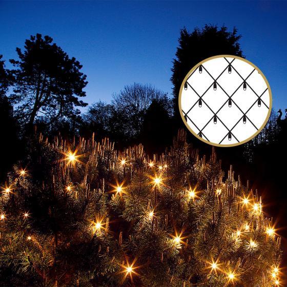 LED-Lichternetz, 300X300 cm, weiß