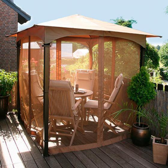 insektenschutznetz f r pavillon terrazzino online kaufen bei g rtner p tschke. Black Bedroom Furniture Sets. Home Design Ideas