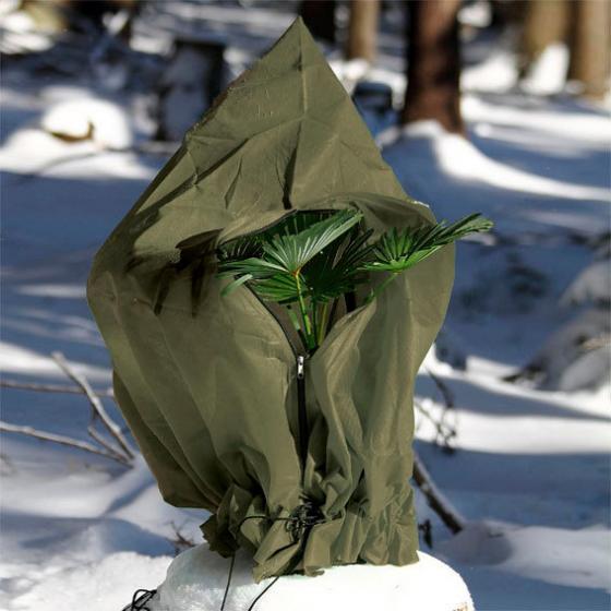 Winterschutzhülle, 100 cm, Polypropylen, olivgrün