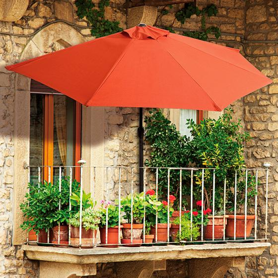 Halbrunder Balkon-Sonnenschirm
