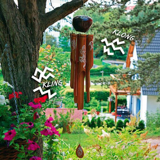 Bambus-Windspiel Kling-Klong